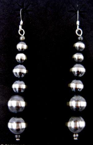 """Navajo brushed sterling silver """"Navajo Pearl"""" earrings"""