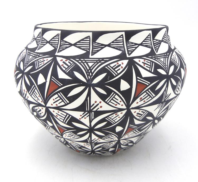 Acoma hand painted ceramic (molded) jar