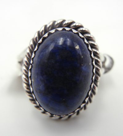 Navajo small lapis and sterling silver ring
