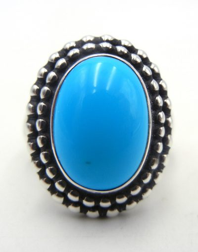 Navajo turquoise and sterling silver ring