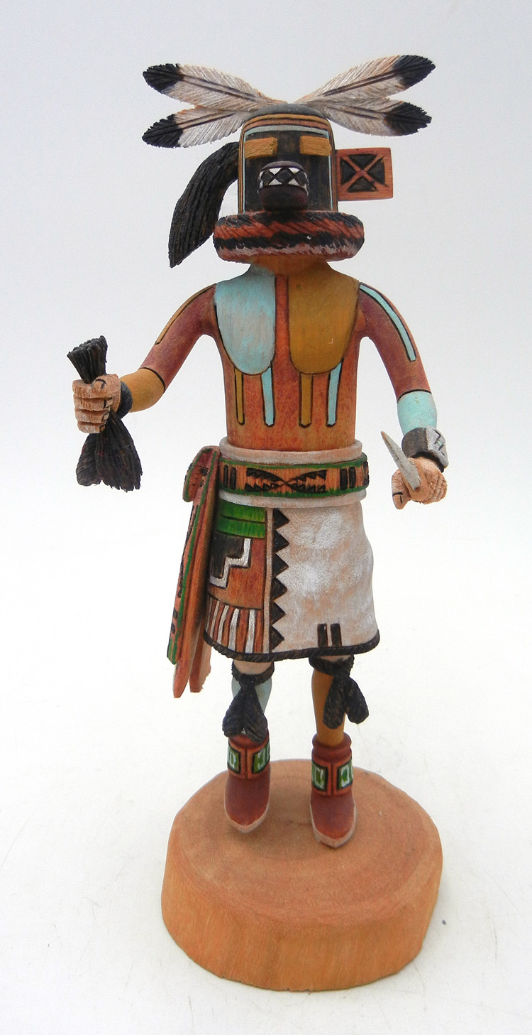 Hopi Hemsona (Hair Cutter) Kachina by Ronald Honani
