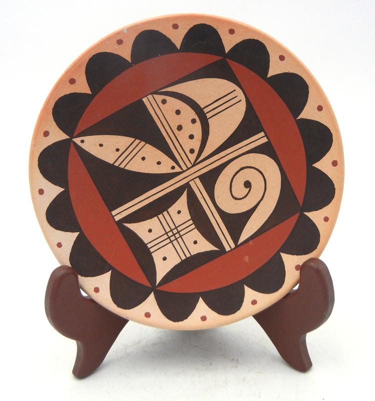 Hopi harvest pattern plate by Stetson Setalla