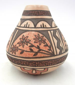 Jemez small handmade and hand painted jar by BJ Fragua