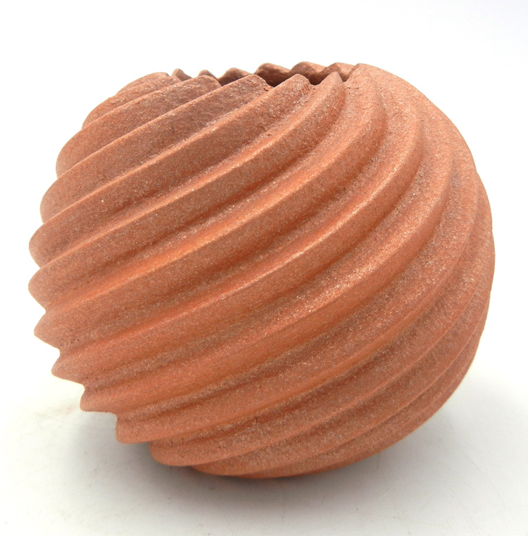Jemez micaceous swirl jar by Dominique Toya