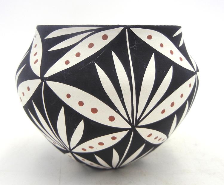 Acoma small polychrome floral pattern bowl by Loretta Garcia