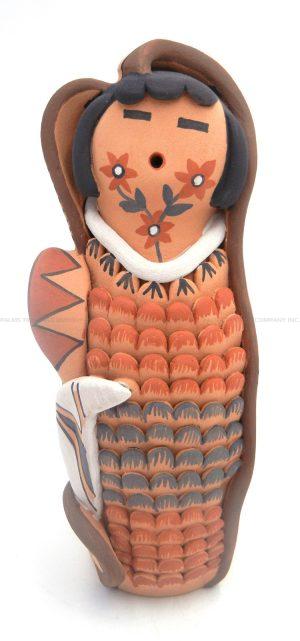 Jemez handmade and hand painted polychrome corn maiden figurine by Emily Fragua Tsosie