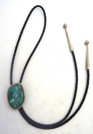 Navajo turquoise and sterling silver bolo tie