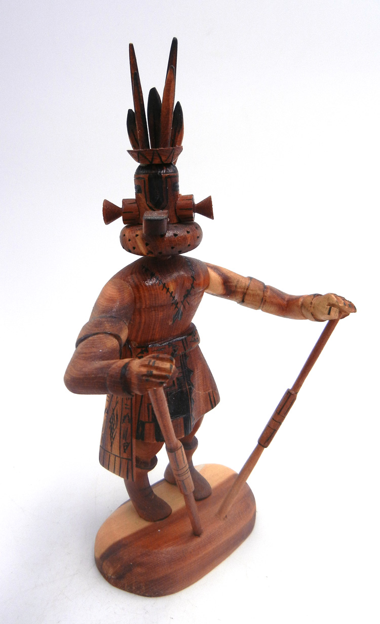 Navajo deer kachina doll carved from cedar by Robert Platero