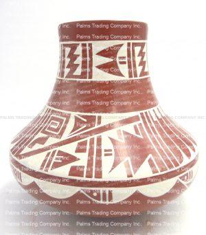 San Ildefonso White on Red Vase by Erik Fender