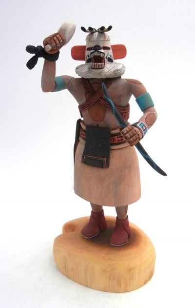 Hopi/Laguna White Bear kachina doll by Raphael Jose