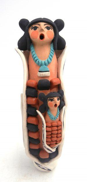 Jemez double corn maiden figurine by Carol Lucero Gachupin