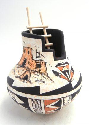 "Navajo ""Pueblo House"" kiva pottery by Westly Begaye"