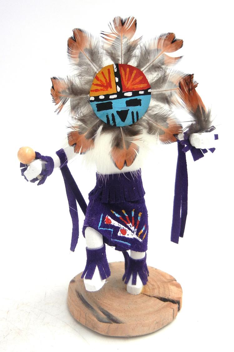 Navajo small sunface kachina doll by Jolene Apachito
