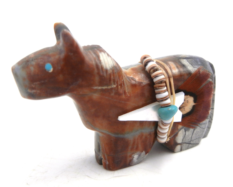 Zuni Picasso marble horse fetish by Edwin Begay