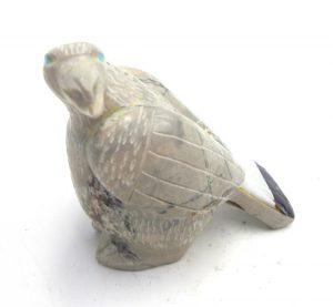 Zuni Picasso marble carved stone eagle fetish by Freddie Leekya