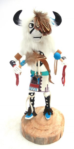 Navajo buffalo kachina doll by Arvin Morris