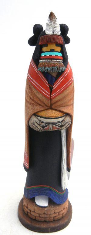 Hopi yellow corn maiden kachina doll by Wilmer Kaye