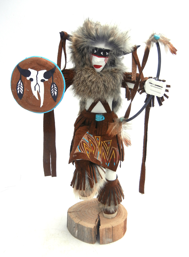Navajo Buffalo Warrior Kachina doll by Victor Abeita