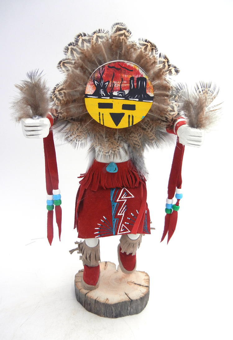 Navajo large sunface kachina doll by Victor Abeita