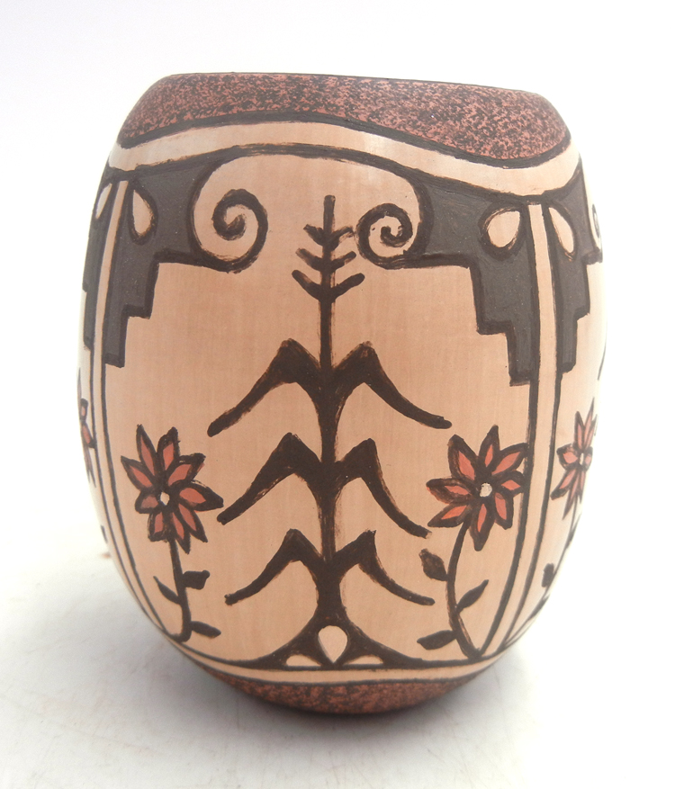 Jemez handmade and hand painted small harvest vase by BJ Fragua