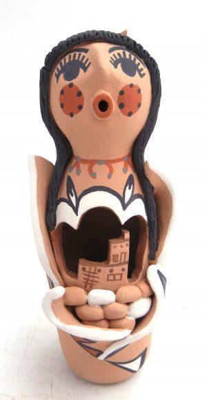 Jemez handmade corn maiden figurine by Bonnie Fragua