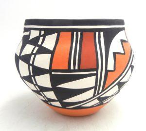 Acoma handmade and hand painted traditional jar by Loretta Joe
