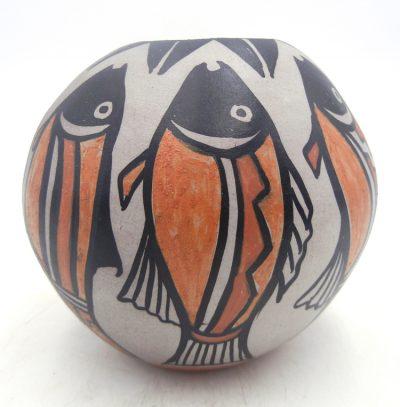 Santo Domingo handmade and hand painted fish bowl by Robert Tenorio