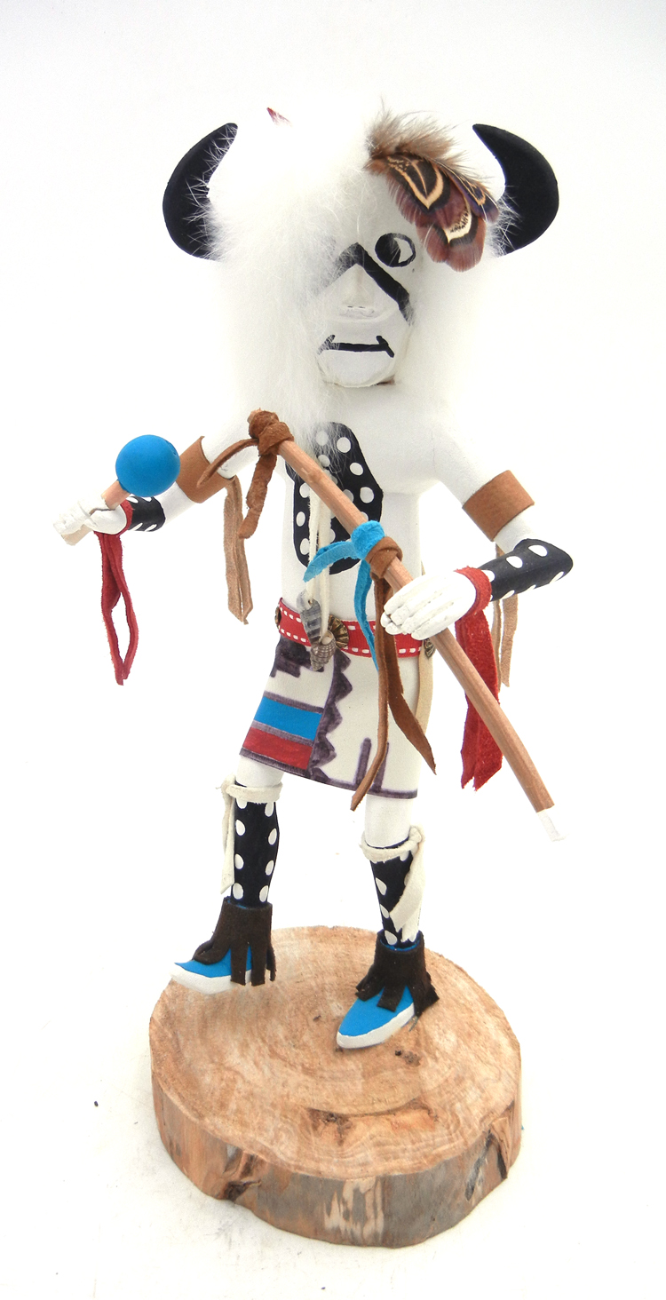 Navajo buffalo kachina doll by Arvin Morris