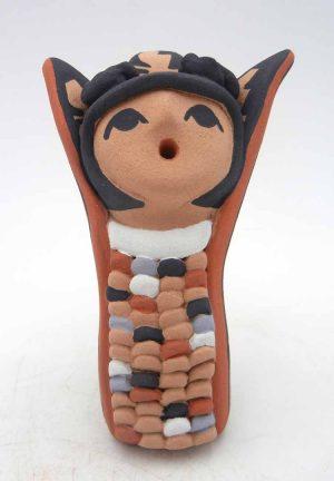 Jemez handmade and hand painted corn maiden figurine by Vernida Toya