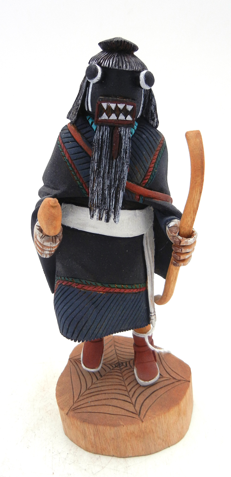 Hopi Black Widow Spider kachina by Delbert Silas