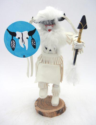Navajo Buffalo Warrior Kachina doll by Victor Abeita