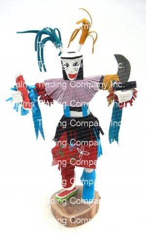 Navajo clown (koshare) kachina doll by Arvin Morris