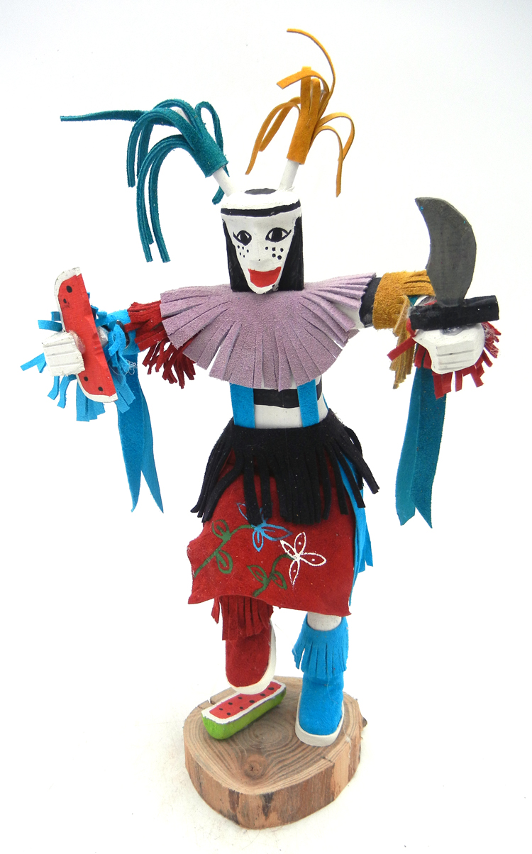 Navajo clown (koshare) kachina doll by Arvin Morris