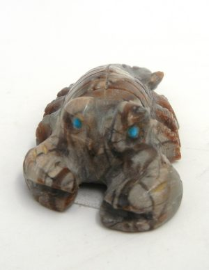Zuni carved Picasso marble scorpion fetish by Cody Cheama