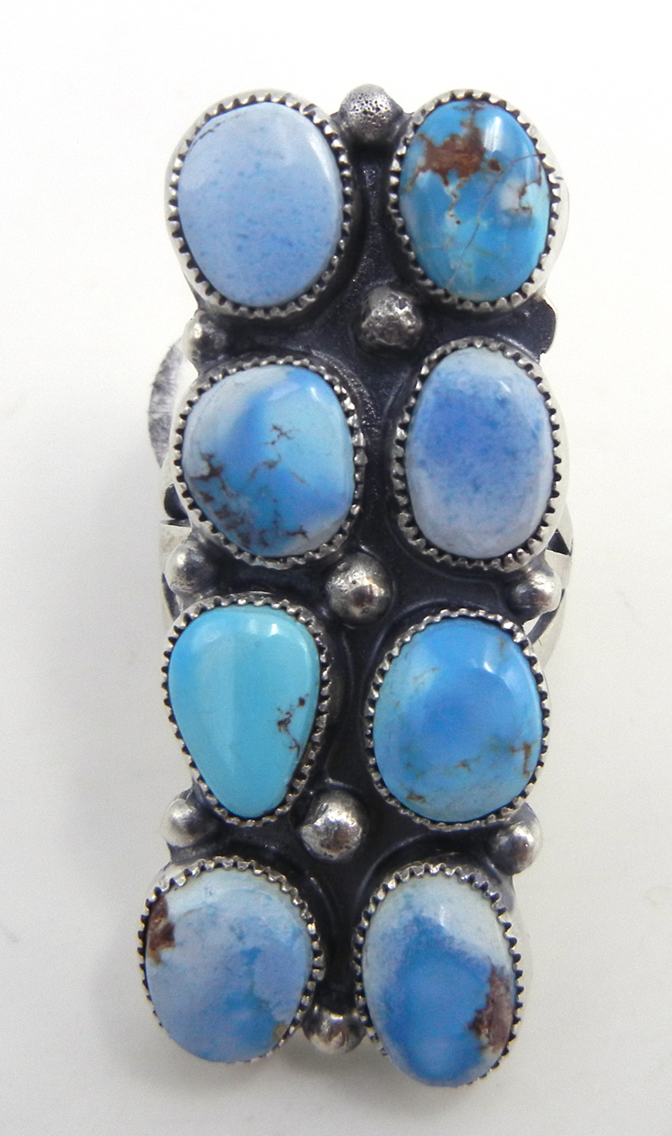 Navajo Golden Hills turquoise and sterling silver ring