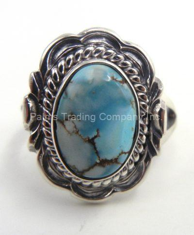 Navajo small Dry Creek Turquiose and sterling silver ring