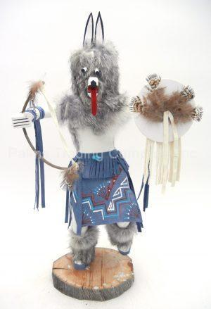 Navajo large wolf kachina by Victor Abeita