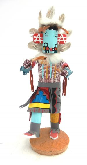 Navajo Morning Singer kachina doll with removable mask by Kenneth Largo