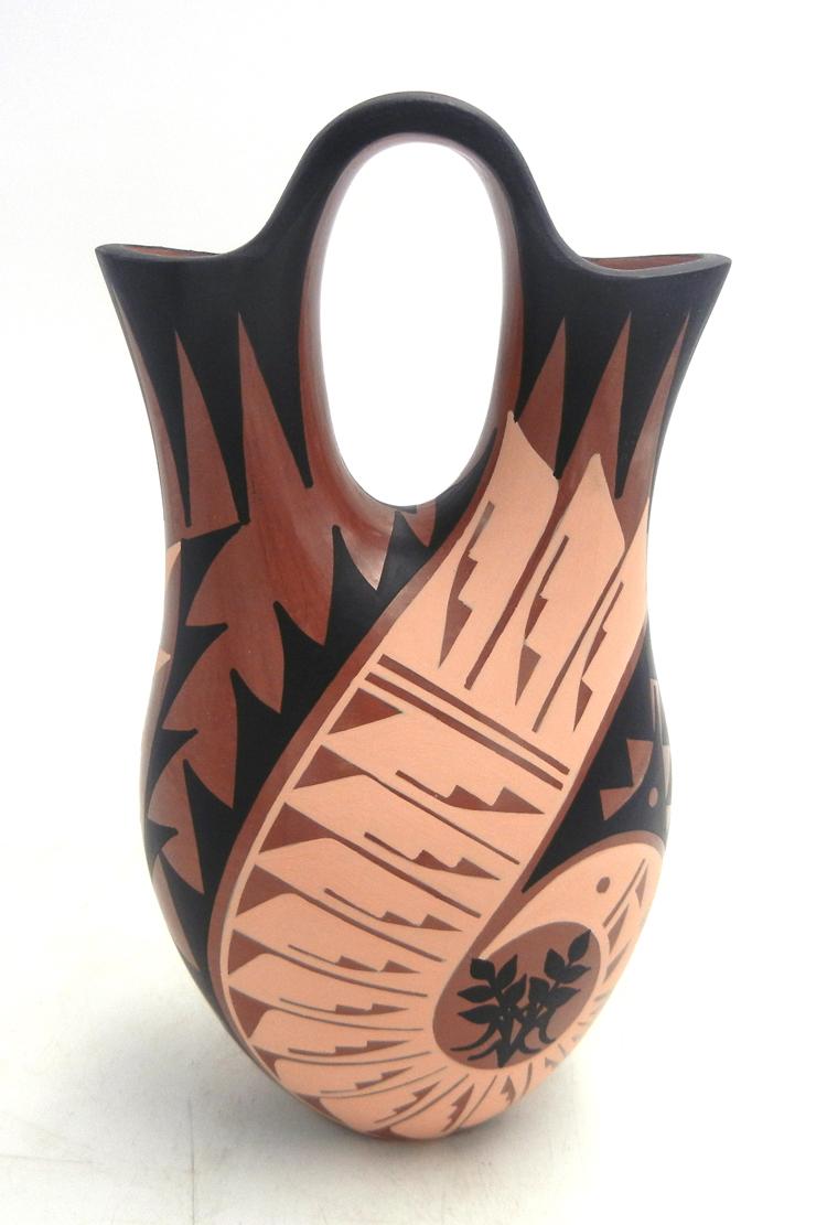 Jemez handmade, hand painted and polished multi-design wedding vase by Geraldine Sandia