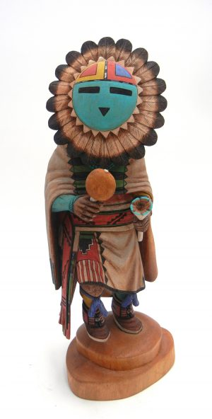 Hopi sunface kachina doll by Brendan Kayquoptewa