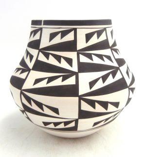 Laguna handmade and hand painted lightning pattern jar by Myron Sarracino
