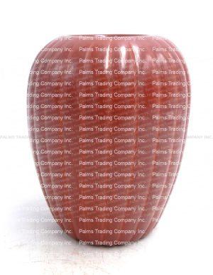 Santa Clara red polished melon style vase by Alvin Baca