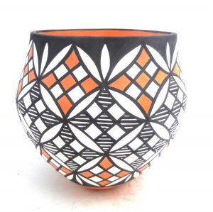 Acoma handmade and hand painted multi-design jar by Mary Antonio